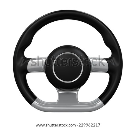 Steering Wheel Isolated - stock photo