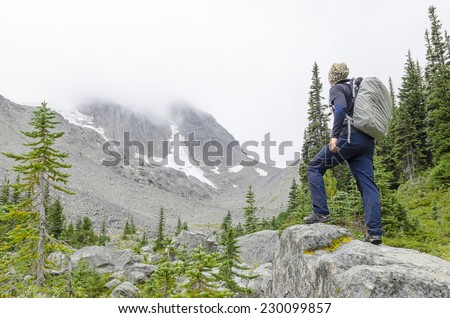 Stepping forward  - stock photo