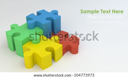 Stepping Jigsaw puzzle - stock photo