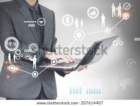 Steps successful business. - stock photo