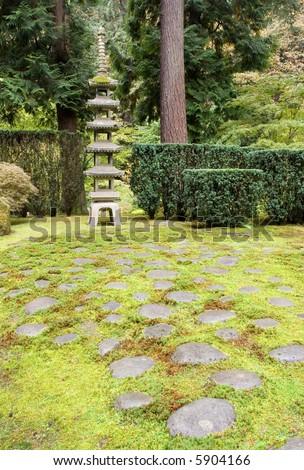Steps to Pagoda - stock photo