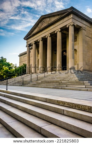 Steps to the Museum of Art in Baltimore, Maryland. - stock photo