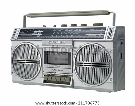 Stereo isolated on a white background - stock photo
