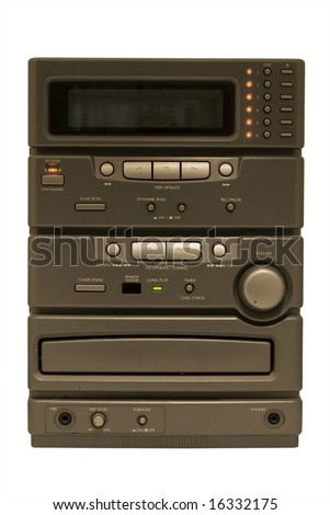 Stereo on isolated white background - stock photo