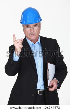 Stern old man - stock photo