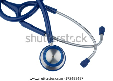 stethoscope against white background, symbol photo for the medical profession and diagnostics - stock photo