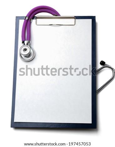 stethoscope on a rx prescription - stock photo