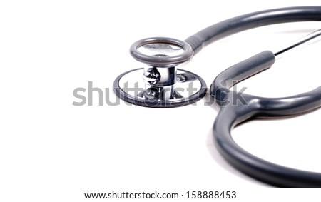 Stethoscope on isolate background - stock photo