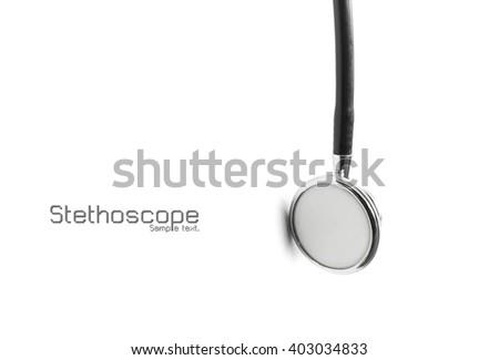 stethoscope on white isolated background - stock photo