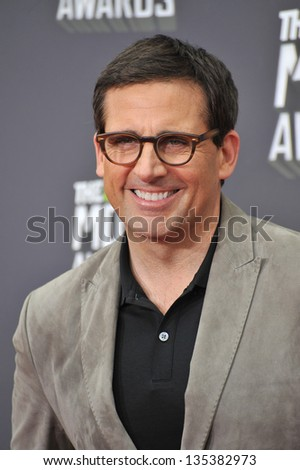 Steve Carell at the 2013 MTV Movie Awards at Sony Studios, Culver City. April 14, 2013  Los Angeles, CA Picture: Paul Smith - stock photo