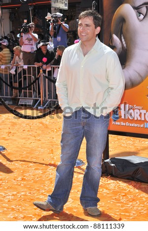 """Steve Carrell at the world premiere of his new movie """"Horton Hears a Who!"""" at the Mann Village Theatre, Westwood. March 8, 2008  Los Angeles, CA Picture: Paul Smith / Featureflash - stock photo"""