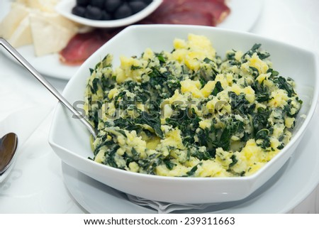 Stew of potatoes and chard - stock photo