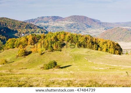 Stiavnicke hills, Slovakia - stock photo