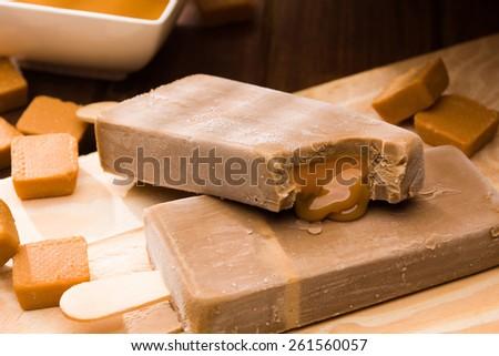 Stick ice cream - stock photo