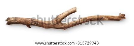 Stick isolated on white background - stock photo
