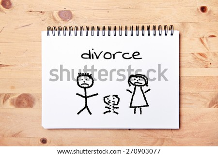 stick man background - drawing block - divorce - stock photo