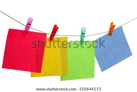 stick note isolated on white background - stock photo
