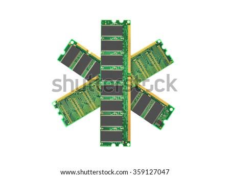 Stick of computer random access memory (RAM) - stock photo