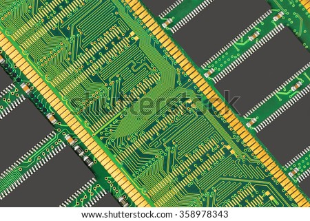 Stick of computer random access memory (RAM) background - stock photo