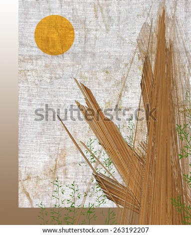 Stick to the sun - stock photo
