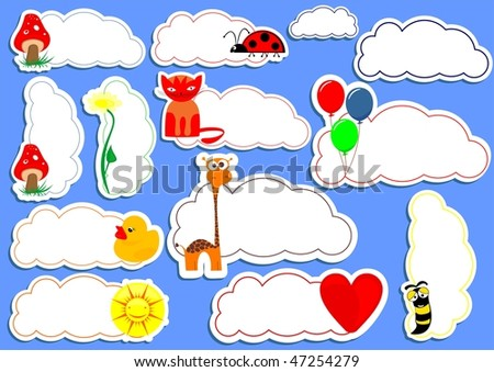 Stickers. For vector format click on my name! - stock photo