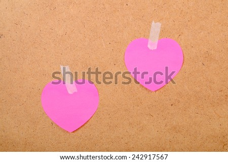 Stickers in the form of heart - stock photo