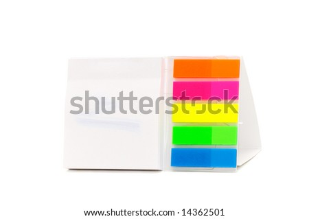 stickers isolated on a white background - stock photo