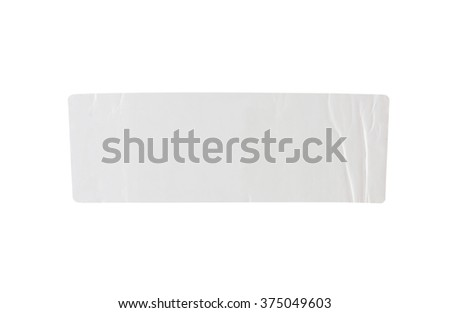 Stickers label with clipping path isolated on white background - stock photo