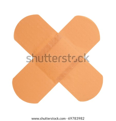 Sticking plaster isolatedon white background - stock photo