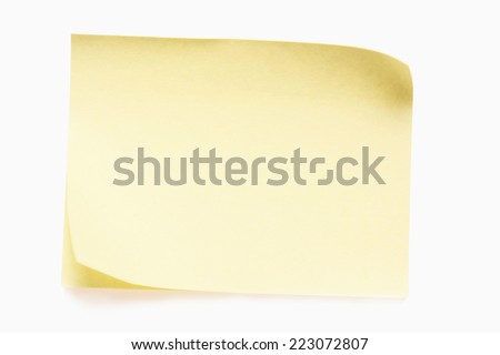 sticky card - stock photo