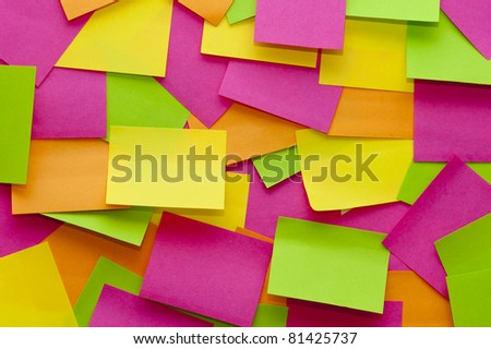 Sticky note quilt - stock photo
