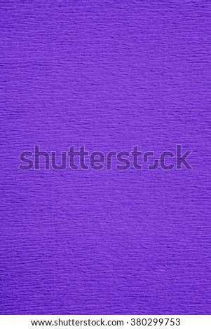 Still life close up detail of a wrinkly purple rough grungy piece of paper with horizontal lines and thick texture. Violet full frame background with texture detail. Monotone backdrop blank page. - stock photo