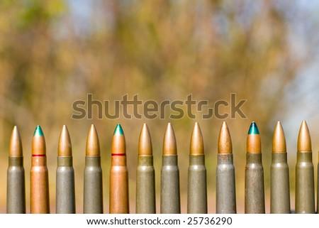 Still-life of cartridge - dangerous of world war - stock photo