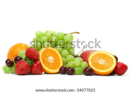 Still-life of fresh fruit - stock photo