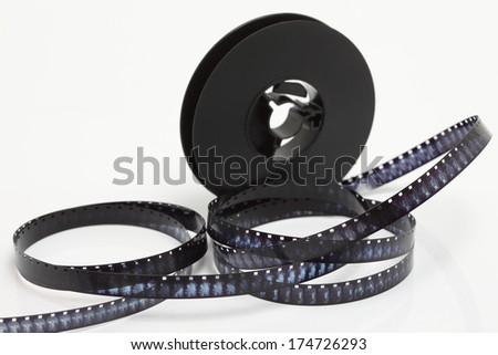 still life of 8mm cine film - stock photo