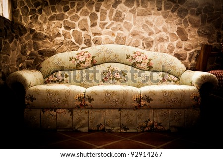 Still life of retro style room - stock photo