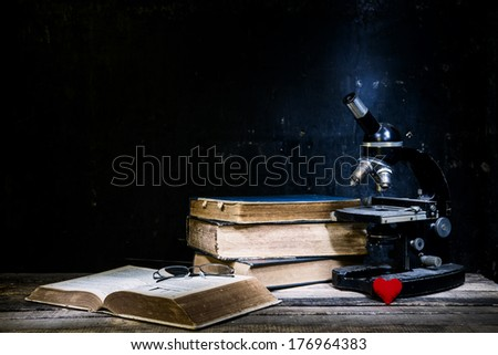 Still life. Old book  - stock photo