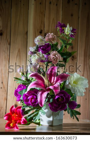Still life with a beautiful flowers  - stock photo