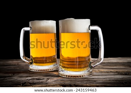 Still Life with a draft beer by the glass. - stock photo