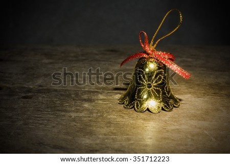 Still life with bell christmas - stock photo