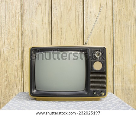 Still Life with old televisionin Retro Style - stock photo