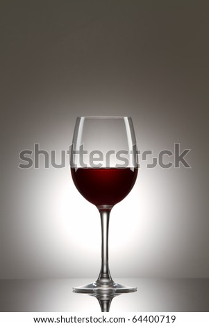 Still-life with the red wine glass - stock photo