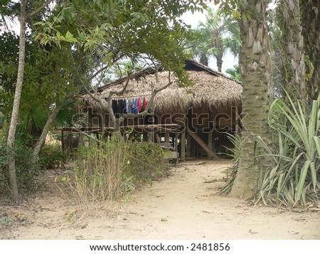 Stilt House - stock photo