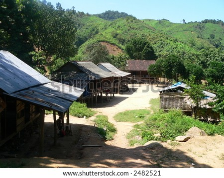 Stilt Houses - stock photo