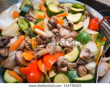 Stir Fry Vegetables - stock photo