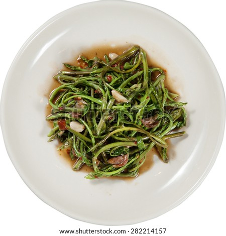 stirred-fried morning vegetable  - stock photo