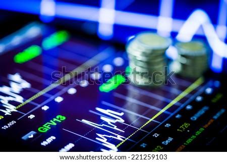 stock analysis - stock photo