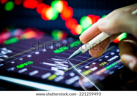 stock analysis - stock photo