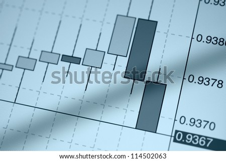 Stock Chart on an tablet pc screen - stock photo