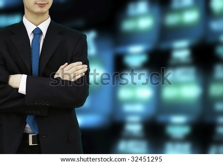 Stock Exchange Businessman - stock photo